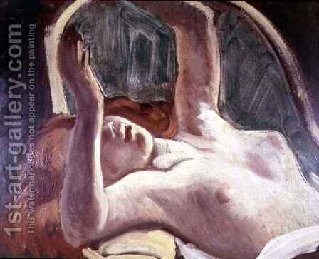 Nude Woman Reclining by Jean Baltus - Reproduction Oil Painting