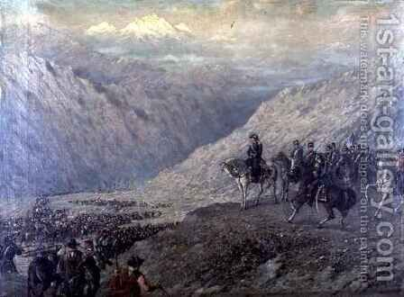 The Passage of the Andes by Augusto Ballerini - Reproduction Oil Painting