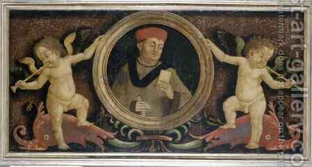 Male portrait with putti by Matteo di Giuliano di Lorenzo Balducci - Reproduction Oil Painting