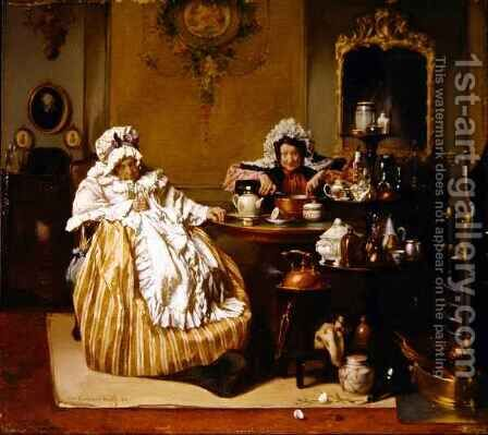 High Tea by Alexander Hugo Bakker-Korff - Reproduction Oil Painting