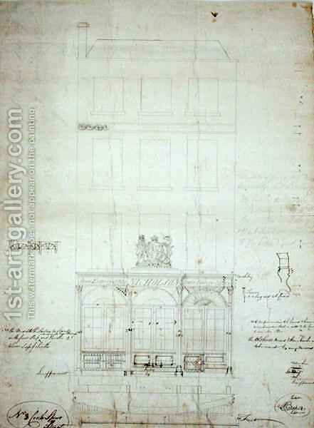 Design for Nicholson's State Lottery Office by Baker - Reproduction Oil Painting