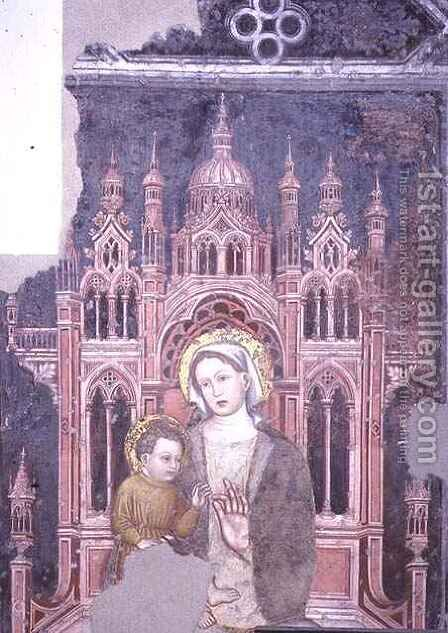 Madonna and Child by Giovanni Badile - Reproduction Oil Painting