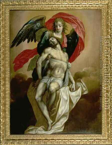 The Dead Christ Supported by an Angel by Jacques de Backer - Reproduction Oil Painting