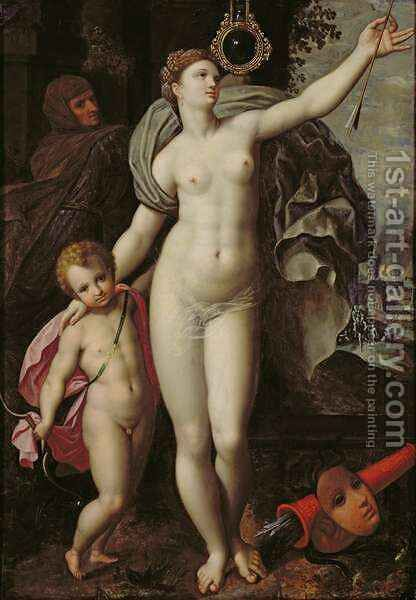 Venus and Cupid by Jacques de Backer - Reproduction Oil Painting