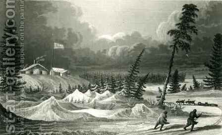 Winter View of Fort Franklin by (after) Back, George - Reproduction Oil Painting