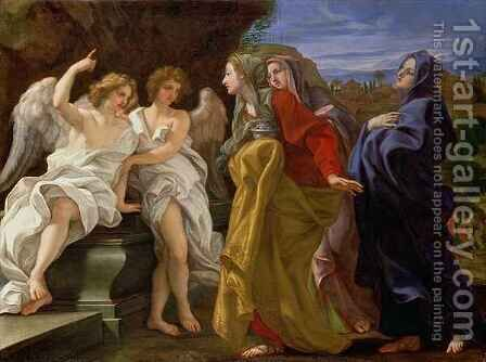 The Three Marys at the Sepulchre by Il (Giovanni B. Gaulli) Baciccio - Reproduction Oil Painting