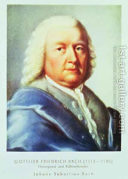 Portrait of Johann Sebastian Bach (1685-1750) by Gottlieb Friedrich Bach - Reproduction Oil Painting