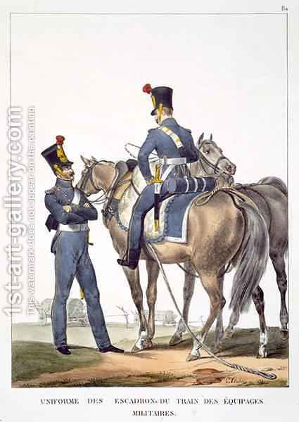 Uniforme des Escadrons du Train des Equipages Militaires by Charles Aubry - Reproduction Oil Painting