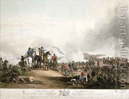 Battle of Salamanca on 22nd July 1812 by (after) Atkinson, John Augustus - Reproduction Oil Painting