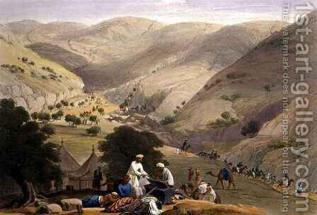 The Third Descent of the Koojah Pass by (after) Atkinson, James - Reproduction Oil Painting