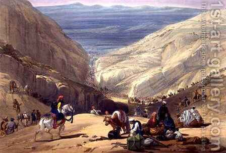 The Second Descent Through the Koojah Pass by (after) Atkinson, James - Reproduction Oil Painting
