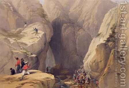 Entrance to the Kojak Pass from Parush, from 'Sketches in Afghaunistan' by (after) Atkinson, James - Reproduction Oil Painting