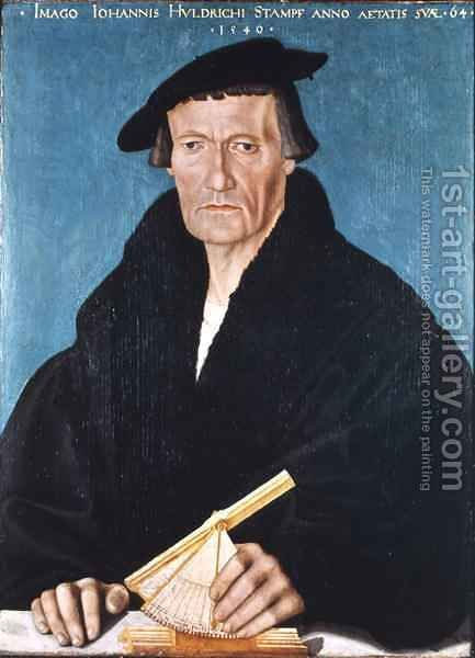 Portrait of Ulrich Stampfer by Hans Asper - Reproduction Oil Painting