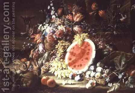 Still Life of Fruit by Aniello Ascione - Reproduction Oil Painting