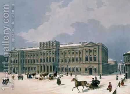 Palace of the Grand Duke of Leuchtenberg in St. Petersburg by (after) Arnout, Louis Jules - Reproduction Oil Painting