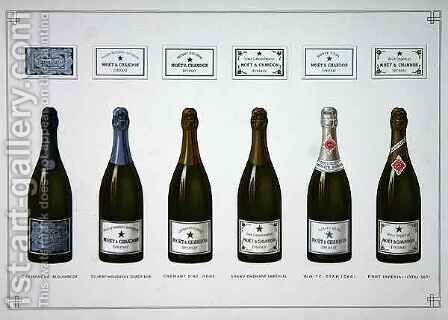 Types of Champagne and Sparkling wine by B. Arnaud - Reproduction Oil Painting