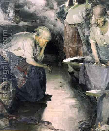 The Laundresses by Abram Efimovich Arkhipov - Reproduction Oil Painting
