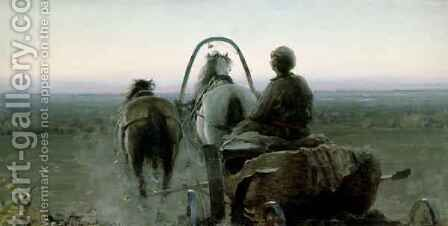 The Return Journey by Abram Efimovich Arkhipov - Reproduction Oil Painting