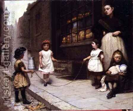 Skipping Rope by Janet Archer - Reproduction Oil Painting