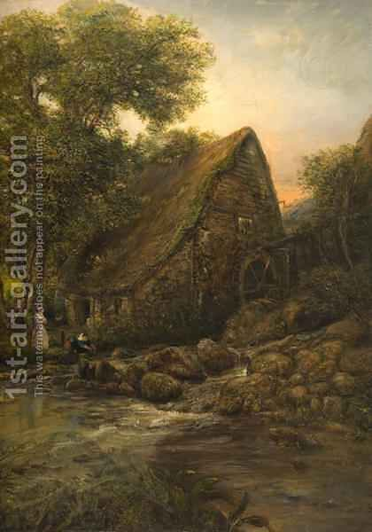 The Old Millwheel by Henry Mark Anthony - Reproduction Oil Painting