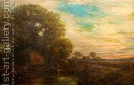 Autumn Evening by Henry Mark Anthony - Reproduction Oil Painting