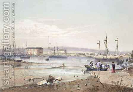 Port Adelaide' from 'South Australia Illustrated by (after) Angas, George French - Reproduction Oil Painting