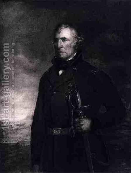 Zachary Taylor, 12th President of the United States of America by (after) Andrews, Eliphalet Frazer - Reproduction Oil Painting