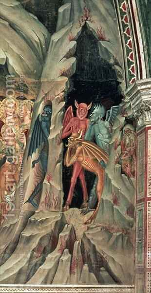 The Descent into Limbo, from the Spanish Chapel by Bonaiuto (Andrea da Firenze) Andrea di - Reproduction Oil Painting