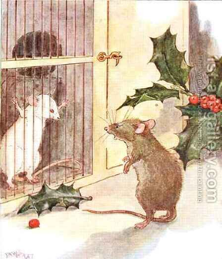 Saw a prison and in it the white ghost of a mouse by Anne Anderson - Reproduction Oil Painting