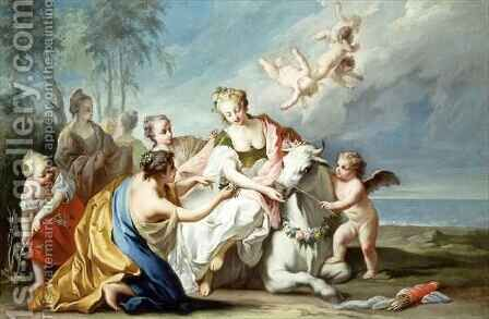 The Rape of Europa by Jacopo (Giacomo) Amigoni - Reproduction Oil Painting