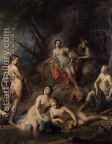 Diana Bathing with her Nymphs by Jacopo (Giacomo) Amigoni - Reproduction Oil Painting