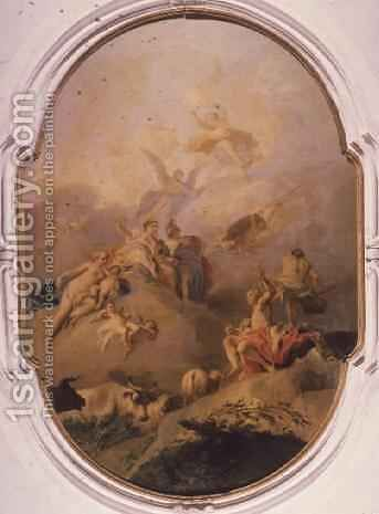 Judgement of Paris by Jacopo (Giacomo) Amigoni - Reproduction Oil Painting