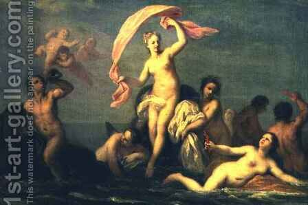 The Birth of Venus by Jacopo (Giacomo) Amigoni - Reproduction Oil Painting