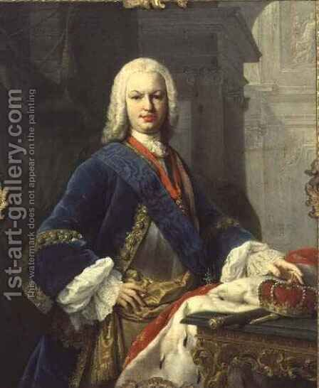 Portrait of Ferdinando IV, King of Spain (1711-59) by Jacopo (Giacomo) Amigoni - Reproduction Oil Painting