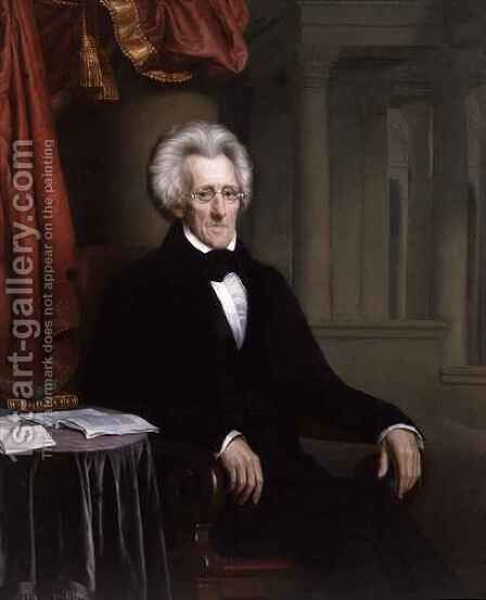 Portrait of Andrew Jackson by Jacques Amans - Reproduction Oil Painting