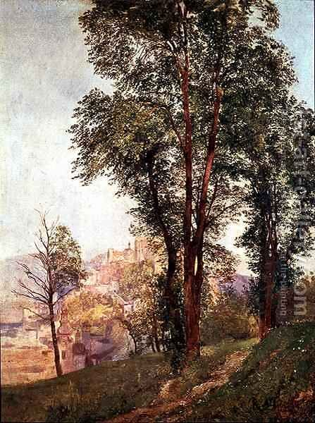 View from Monchsberg Towards Salzburg by Jakob Alt - Reproduction Oil Painting