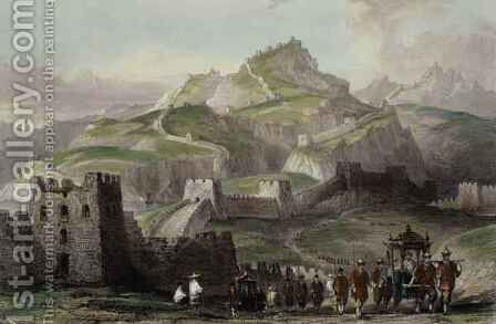 The Great Wall of China, from 'China in a Series of Views' by (after) Thomas Allom - Reproduction Oil Painting