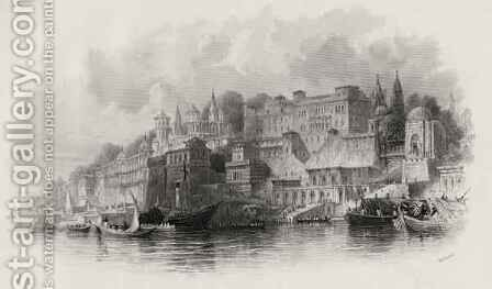 Benares, India by (after) Thomas Allom - Reproduction Oil Painting