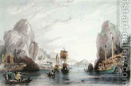 The Shi-Mun, or Rock Gates by (after) Thomas Allom - Reproduction Oil Painting