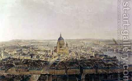City View, From St Bride's Church by (after) Thomas Allom - Reproduction Oil Painting