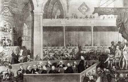 The General Assembly of the Kirk of Scotland by (after) David Allan - Reproduction Oil Painting