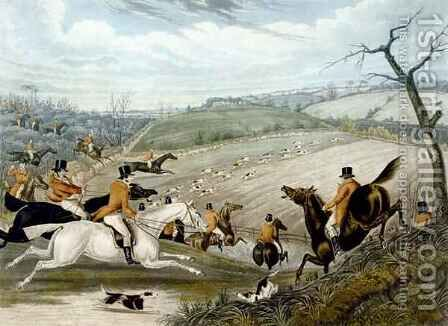 The Grand Leicestershire Fox Hunt 4 by (after) Samuel Henry Gordon Alken - Reproduction Oil Painting