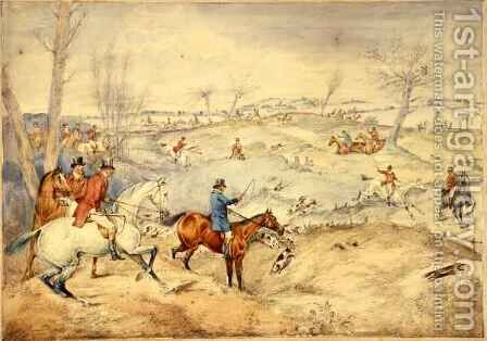 Hunting Scenes Tally-Ho by Henry Thomas Alken - Reproduction Oil Painting