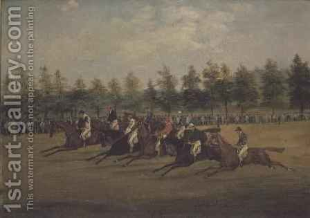 The Start of the St.Leger by Henry Thomas Alken - Reproduction Oil Painting
