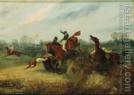 An Incident in the Lucas Winter Meeting by Henry Thomas Alken - Reproduction Oil Painting