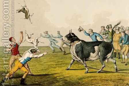 Bull Baiting by Henry Thomas Alken - Reproduction Oil Painting