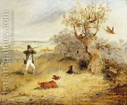 Pheasant Shooting by Henry Thomas Alken - Reproduction Oil Painting