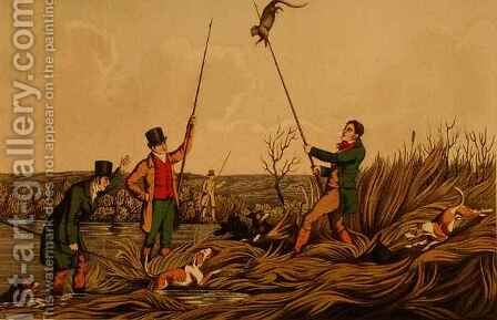 Spearing The Otter by Henry Thomas Alken - Reproduction Oil Painting