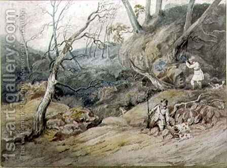 Sportsmen in a Wood by Henry Thomas Alken - Reproduction Oil Painting