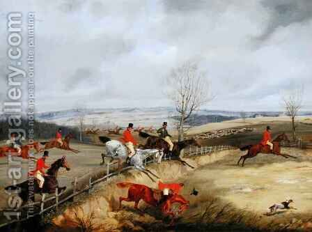 Hunting Scene, Drawing the Cover by Henry Thomas Alken - Reproduction Oil Painting
